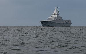 Visby-class corvette - Image: K32 HMS Helsingborg Anchored of Gotska Sandoen