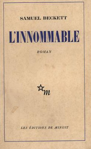 The Unnamable (novel) - First edition (French)