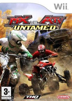 MX vs. ATV Untamed - Wii version cover art