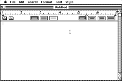 Screenshot of MacWrite 1.0