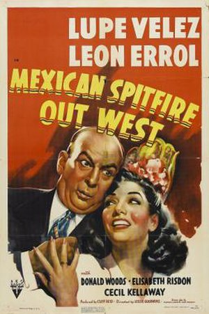 Mexican Spitfire Out West - Theatrical release poster