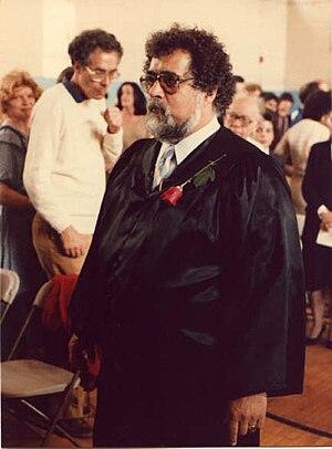 Michael DeSisto - DeSisto in school gown at 1983 graduation