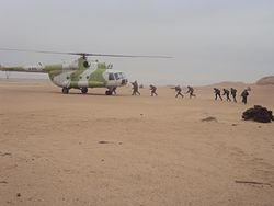 Air Force Mil Mi-17 Carrying out exercises with Namibian Marines