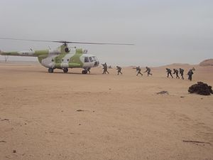 Namibian Air Force - Air Force Mil Mi-17 Carrying out exercises with Namibian Marines