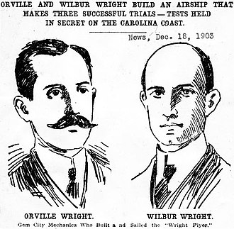 Harry Aubrey Toulmin Sr. - Drawings of the Wright Brothers one day after their famous December 17, 1903 flight
