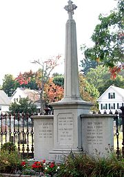 Pierce's tomb at the Old North Cemetery, Concord, NH