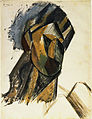 Pablo Picasso, 1909, Head of a Woman, gouache on paper, 62.2 x 48 cm, Museum of Modern Art.jpg