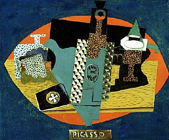 Detroit Institute of Arts - Pablo Picasso, 1916, L'anis del mono (Bottle of Anis del Mono), oil on canvas, 46 x 54.6 cm