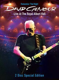 <i>Remember That Night</i> 2007 video by David Gilmour
