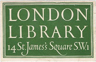 London Library - 20th-century London Library book label designed by Reynolds Stone