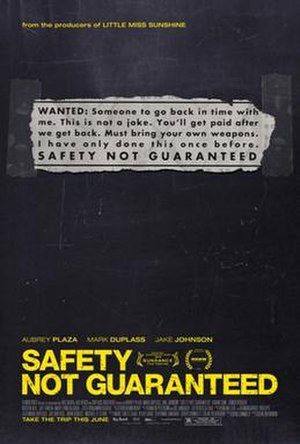 Safety Not Guaranteed - Film poster