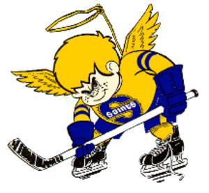 Minnesota Fighting Saints - Image: Saintplayer blue
