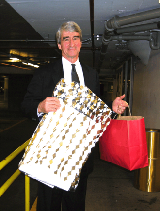 Sam Waterston - Waterston displaying gifts from fans