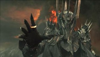 Sauron - Sauron, portrayed by Sala Baker, in Peter Jackson's The Lord of the Rings: The Fellowship of the Ring