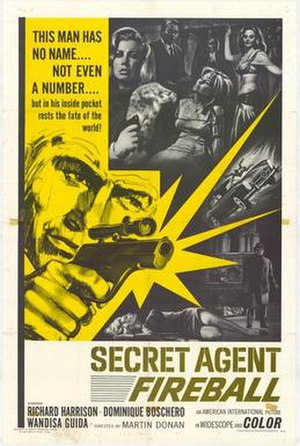 Secret Agent Fireball - AIP film poster