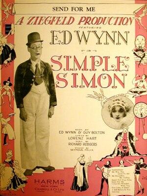 Simple Simon (musical) - original 1930 sheet music