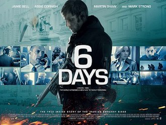 6 Days (2017 film) - Theatrical release poster