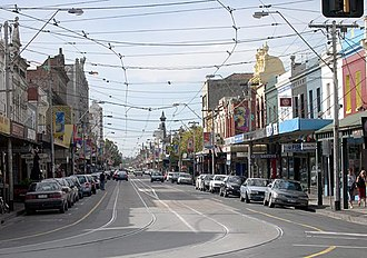 Smith Street, Melbourne - Smith Street looking north from Gertrude Street, Collingwood.