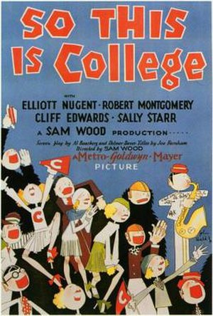 So This Is College - Theatrical release poster