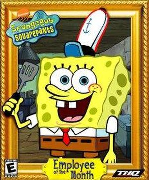 SpongeBob SquarePants: Employee of the Month - Artwork of the game released only for North America