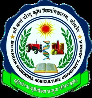 Sri Karan Narendra Agriculture University - Image: Sri Karan Narendra Agriculture University logo