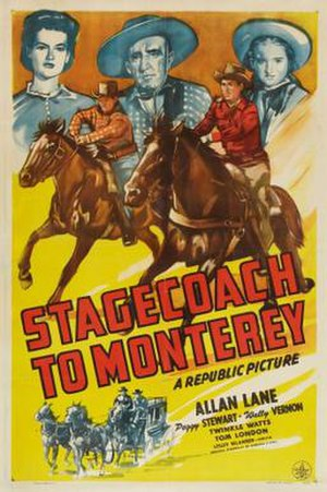 Stagecoach to Monterey - Theatrical release poster