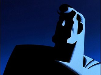 Superman: The Animated Series - Image showing Superman during the end credits of the series