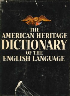 <i>The American Heritage Dictionary of the English Language</i>
