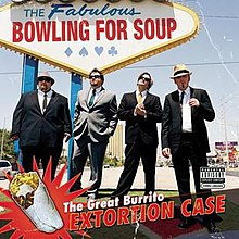 An image of four men in suits with a Las Vegas-style sign that says 'The Fabulous Bowling For Soup' behind them.
