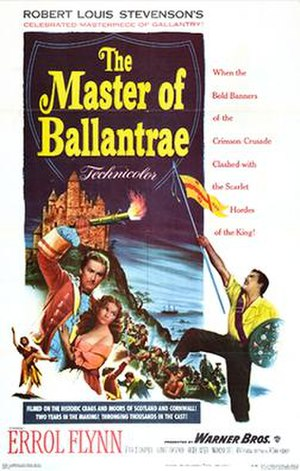The Master of Ballantrae (1953 film) - Theatrical release poster
