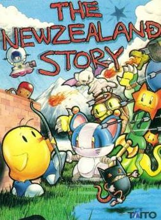 The NewZealand Story - Bob Wakelin's artwork for Ocean Software's home ports