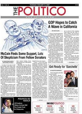 The Politico Frontpage 2007-02-15