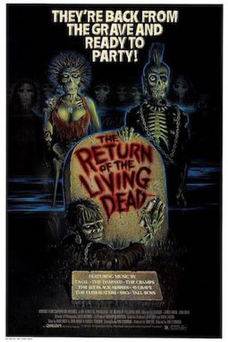The Return of the Living Dead - Theatrical release poster by Carl Ramsey