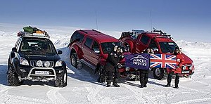 Top Gear: Polar Special - All three vehicles used for the expedition.