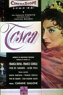 <i>Tosca</i> (1956 film) 1956 film by Carmine Gallone