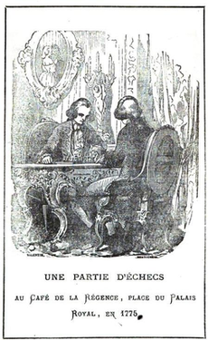 Illustration of two men playing chess
