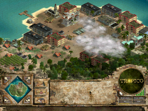Tropico - A screenshot depicting the strategy oriented gameplay.