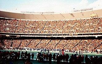 1980 Dallas Cowboys season - Veterans Stadium during the 1980 NFC Championship Game against the Dallas Cowboys, January 11, 1981.
