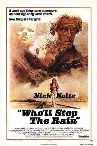 Who'll Stop the Rain - Theatrical release poster by Tom Jung