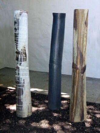 Toshiko Takaezu - Image: 'Ceramic Forest Three Trees', stoneware sculpture by Toshiko Takaezu , 1975 1980, Honolulu Academy of Arts