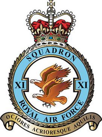 No. 11 Squadron RAF - 11 Squadron badge