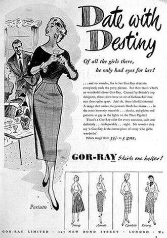 Joseph Stillitz - A 1954 Gor-Ray advertisement advertising multiple product lines