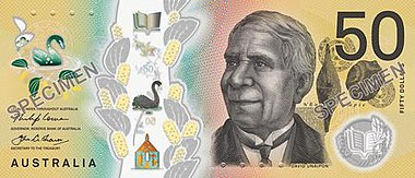 $50 Australian note 2018 Australian fifty dollar note obverse.jpg