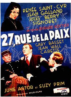 <i>27 Rue de la Paix</i> 1936 film by Richard Pottier