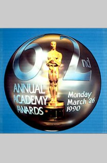 62nd Academy Awards Award ceremony presented by the Academy of Motion Picture Arts & Sciences for achievement in filmmaking in 1989