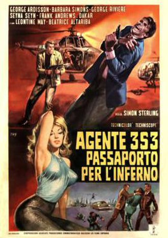 Agent 3S3: Passport to Hell - Italian theatrical release poster