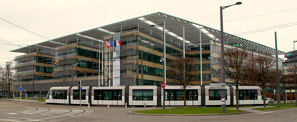 Alsace Regional Council headquarters in Strasbourg January 2013