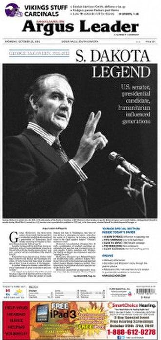 Argus Leader - Image: Argus Leader October 22 2012 front page