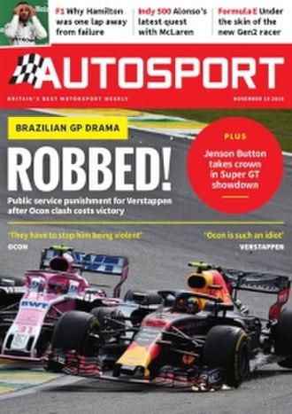 Autosport - Image: Autosport Nov 11 2018 cover