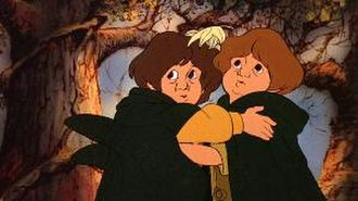 Meriadoc Brandybuck - Merry (right) and Pippin in Ralph Bakshi's animated version of The Lord of the Rings.